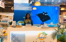 Maldives' stall at the Matka Expo 2020, facilitated by Maldives Marketing and Public Relations Corporation (MMPRC) in early 2020. Similar efforts are underway to kickstart the tourism industry following the negative impact of the ongoing COVID-19 pandemic. PHOTO: MMPRC