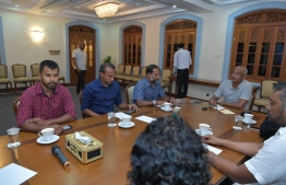 President holds discussion with relevant authorities regarding the sexual violence case against a toddler in Kanduhulhudhoo, Gaafu Alif Atoll. Photo: President's Office