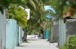 A child in Kanduhulhudhoo, Gaafu Alifu Atoll. PHOTO: NISHAN ALI/ MIHAARU