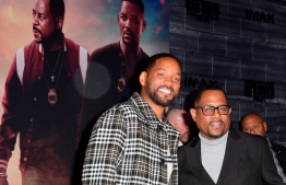 "(FILES) In this file photo taken on January 14, 2020 actors Will Smith (L) and Martin Lawrence (R) arrive for the World Premiere of ""Bad Boys For Life"" at the TCL Chinese theatre in Hollywood. - It took Sony 17 years, but the latest ""Bad Boys"" sequel appears to be paying off, taking in an estimated $59.2 million for the start of a US holiday weekend, industry watcher Exhibitor Relations reported on January 19, 2020. ""Bad Boys for Life"" stars Will Smith and Martin Lawrence as wise-cracking detectives who reunite after years apart (""Bad Boys II"" dates from 2003, eight years after the original ""Bad Boys"") to take on a murderous Miami drug cartel. (Photo by Frederic J. BROWN / AFP)"