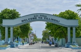 The main road on GA.Villingili. The island, along with Dhaandhoo, is currently under monitoring after COVID-19 cases were detected on them. FILE PHOTO: NISHAN ALI / MIHAARU