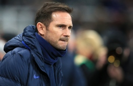 Chelsea's English head coach Frank Lampard reacts during the English Premier League football match between Newcastle United and Chelsea at St James' Park in Newcastle-upon-Tyne, north east England on January 18, 2020. PHOTO: LINDSEY PARNABY / AFP