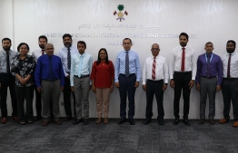 A photograph taken at the ceremony to mark the shift of the Fisheries Ministry's website to gov.mv. PHOTO: FISHERIES MINISTRY