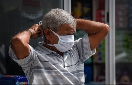 Malé, March 19, 2020: A man pictured wearing a face mask. President Solih on Wednesday waived import duties on face masks and hand sanitizers over COVID-19 outbreak. PHOTO: AHMED AWSHAN ILYAS/MIHAARU