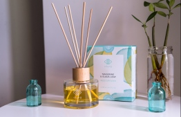 Featuring Vilunü's flagship scent, the 'Tangerine and Guava Leaf' reed diffuser is available at Island Bazaar. PHOTO: VILUNÜ