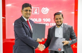 BML signs with Corporate Maldives to become the Platinum Partner of the 2020 edition of the Gold 100 Awards. PHOTO/BML