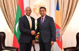 The governments of Maldives and Seychelles announce a major joint marine research expedition to explore and conserve the Indian Ocean. PHOTO: PRESIDENT'S OFFICE