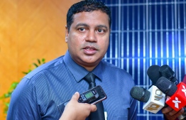 State Electric Company (STELCO)'s Managing Director Hassan Mughnee. PHOTO: AHMED AWSHAN ILYAS / MIHAARU