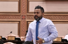 Parliamentary Representative for the constituency of Naifaru, Lhaviyani Atoll and Vice President of opposition Progressive Party of Maldives (PPM) Ahmed Shiyam, at the Parliament. PHOTO: PEOPLE'S MAJLIS