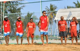 During the opening of the redeveloped Volleyball grounds in Hulhumale'. PHOTO: NISHAN ALI / MIHAARU