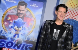 "US/Canadian actor Jim Carrey attends a special screening of ""Sonic the Hedgehog"" at the Regency Village Theatre in Westwood, California, on February 12, 2020. (Photo by Robyn Beck / AFP)"