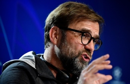 Liverpool's German manager Jurgen Klopp holds a press conference at the Wanda Metropolitano stadium in Madrid on February 17, 2020 on the eve of their Champions League football match against Club Atletico de Madrid. (Photo by JAVIER SORIANO / AFP)