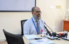 Hussain Fazeel, General Manager, Commercial of MACL at Wednesday's meeting with Parliament Public Finance Committee refutes MACL's board's earler remarks at an earlier meeting with the oversight committee. PHOTO: MIHAARU