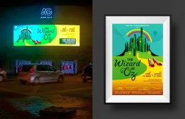 Wizard of Oz Billboard display and Promotional poster. PHOTO: AHMED NABEEH