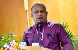 Elections Commission (EC)'s President Ahmed Shareef. PHOTO: AHMED AWSHAN ILYAS / MIHAARU