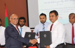 A photograph taken during the contract signing with LE Triveni in 2017. PHOTO: MIHAARU