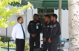 Minister of Home Affairs Imran Abdulla during his visit to the prison. PHOTO: MALDIVES CORRECTIONAL SERVICE