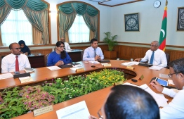 President Ibrahim Mohamed Solih meets with Cabinet ministers. PHOTO/PRESIDENT'S OFFICE