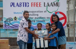 Inauguration of installing water purifiers on Laamu Atoll fishing vessels. PHOTO / BLUEYOU & HORIZON FISHERIES