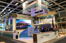 Maldives' stall at ITB Berlin 2019. PHOTO: MALDIVES INSIDER
