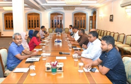 The extraordinary session of the cabinet convened regarding the first COVID-19 case confirmations in Maldives. PHOTO: PRESIDENT'S OFFICE