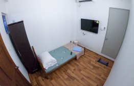 Inside a room at the quarantine facility established on Vilivaru Island. PHOTO: MINISTRY OF TOURISM