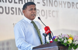 Minister of National Planning, Housing and Infrastructure Mohamed Aslam. PHOTO: AHMED AWSHAN ILYAS/ MIHAARU