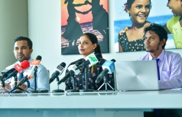 During the Ministry of Education's press conference held on Sunday. PHOTO: AHMED AWSHAN ILYAS / MIHAARU