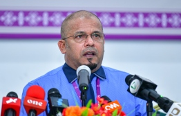 Elections Commission (EC) President Ahmed Shareef. PHOTO: AHMED AWSHAN ILYAS / MIHAARU