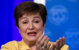 "(FILES) In this file photo taken on March 4, 2020, IMF Managing Director Kristalina Georgieva speaks at a press briefing in Washington, DC, on March 4, 2020. - Argentina's government will need ""substantial debt relief"" from private creditors as the coronavirus pandemic and its economic impact exacerbates the country's financial situation, Georgieva said on March 20, 2020. PHOTO: NICHOLAS KAMM / AFP"