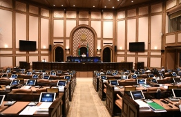 A nearly empty parliament chamber, during a virtual sitting held amid the COVID-19 pandemic. FILE PHOTO/MIHAARU