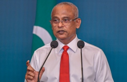 President Ibrahim Mohamed Solih speaks to press on Wednesday 25 March 2020, assuages fears over Covid-19 in Maldives. PHOTO: AHMED AWSHAN ILYAS / MIHAARU