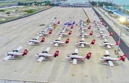 Seaplane giant Trans Maldivian Airways (TMA) has decided cut staff salaries in half, a measure taken in response to COVID-19. PHOTO: MIHAARU