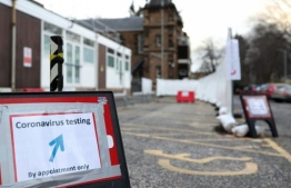 A testing centre for COVID-19 in the United Kingdom (UK) PHOTO: AFP