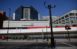 A general view is seen of St Thomas' Hospital in central London on April 9, 2020, where Britain's Prime Minister Boris Johnson appears to be on the road to recovery from the novel coronavirus COVID-19. - Prime Minister Boris Johnson began Friday on a hospital ward after ending three days of intensive care treatment for COVID-19, as his government urged Britons to remain in lockdown over Easter. (Photo by Ben STANSALL / AFP)