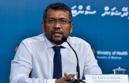 Minister of Economic Development and Acting Minister of Tourism Fayyaz Ismail. He announced that the state will propose amendments to land rent across Maldives to boost tourism. PHOTO: HEOC