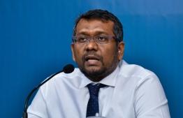 Minister of Economic Development Fayyaz Ismail. PHOTO: AHMED AWSHAN ILYAS / MIHAARU