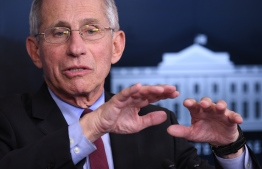 Director of the National Institute of Allergy and Infectious Diseases Anthony Fauci speaks during an unscheduled briefing after a Coronavirus Task Force meeting at the White House on April 5, 2020, in Washington, DC. PHOTO: AFP