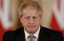 U.K. Prime Minister Boris Johnson praised NHS staff in a video message after he was discharged from the hospital a week after being admitted with persistent coronavirus symptoms. PHOTO: AFP