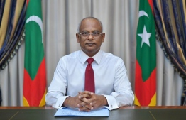 President Ibrahim Mohamed Solih addressing the country regarding the COVID-19 pandemic. PHOTO: PRESIDENT'S OFFICE
