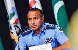 Mohamed Hameed , Police Commissioner. PHOTO: AHMED ASHWAN ILYAS / MIHAARU