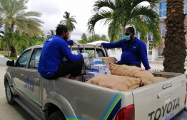 STO Employees across the country busy themselves in ensuring deliveries of staple foods are brought and distributed amongst islands in every island, atoll of Maldves. PHOTO: STO
