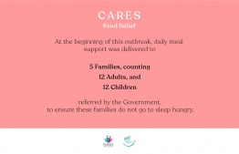 Child Aid Relief in Emergency Situations (CARES), launched by ARC and FLC, provides daily meal support to families affected by the COVID-19 crisis. IMAGE/CARES