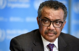 EDITORS NOTE:  / World Health Organization (WHO) Director-General Tedros Adhanom Ghebreyesus attends a daily press briefing on the COVID-19 outbreak (the novel coronavirus) at the WHO headquarters in Geneva on February 28, 2020. (Photo by Fabrice COFFRINI / AFP)