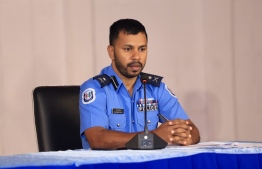 Assistant Commissioner of Police Mohamed Riyaz speaks to the press via a virtual conference. PHOTO/POLICE