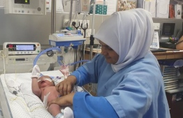 """World Health Organisation (WHO)  partners with the Year of the Nurse and the Midwife declared for 2020 on World Hand Hygiene Day with the theme """"Nurses and midwives, clean care is in your hands!"""". PHOTO: MALDIVES NURSES ASSOCIATION"""