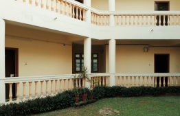The university accommodation block for foreign students enrolled in ITEC programmes. Shahudha's room is on the ground floor to the left. PHOTO: SHAHUDHA MOHAMED.