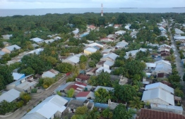 An aerial view of houses in Manadhoo, Noonu Atoll. Telecom giant Ooredoo Maldives has launched SuperNet Fixed Broadband services on the island. PHOTO: FACEBOOK