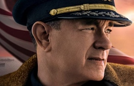 Tom Hanks in a poster for the World War II thriller, 'Greyhound'.