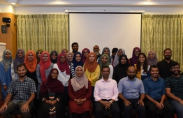 A group photo of members of Maldives Health Professional's Union (MPHU). PHOTO: MPHU/FACEBOOK